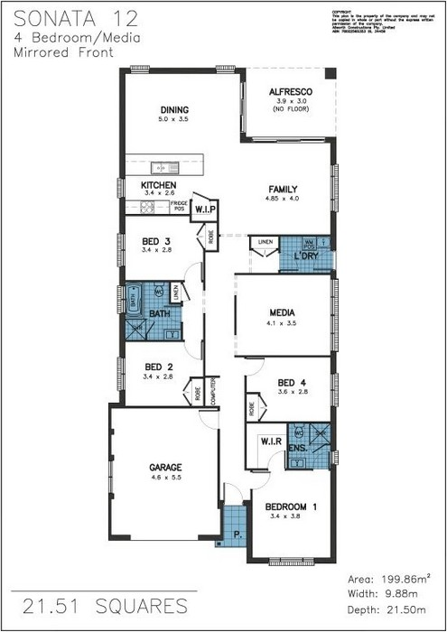 Z. Sonata Floor Plan 12