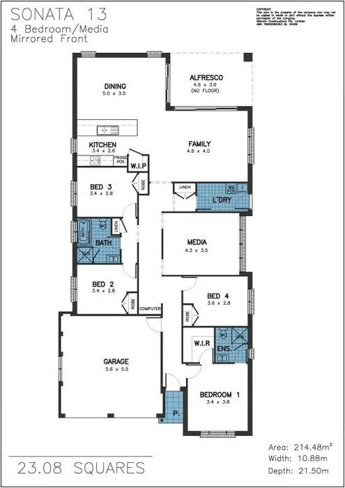 Z. Sonata Floor Plan 13