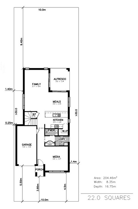 y. Marina 4 Bedroom Media Activities Ground Floor Plan