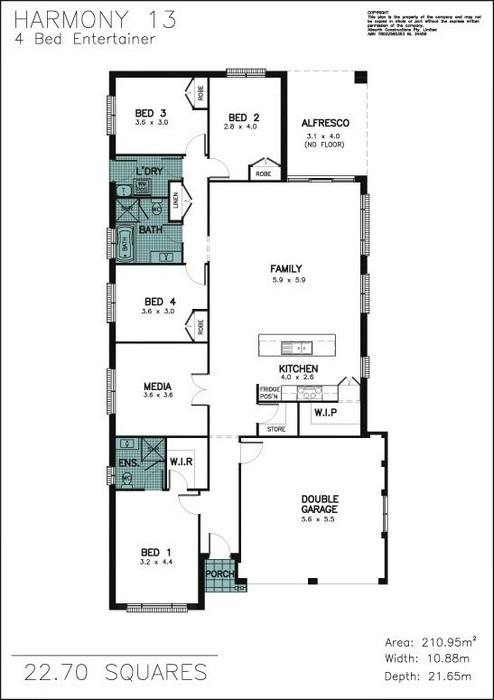 z. Harmony 13 4 Bedroom Entertainer Floor Plan