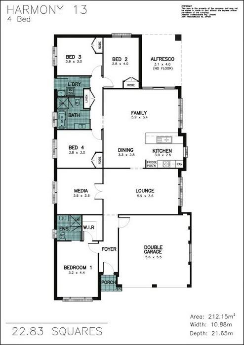 z. Harmony 13 4 Bedroom Floor Plan