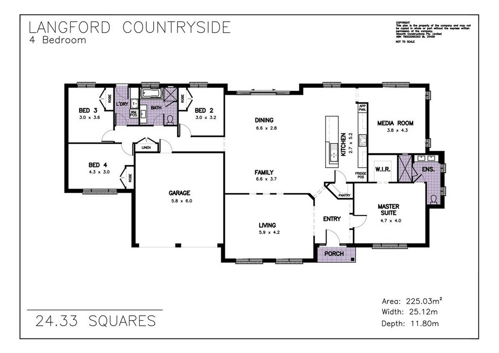 z. Langford Countryside Floor Plan 1