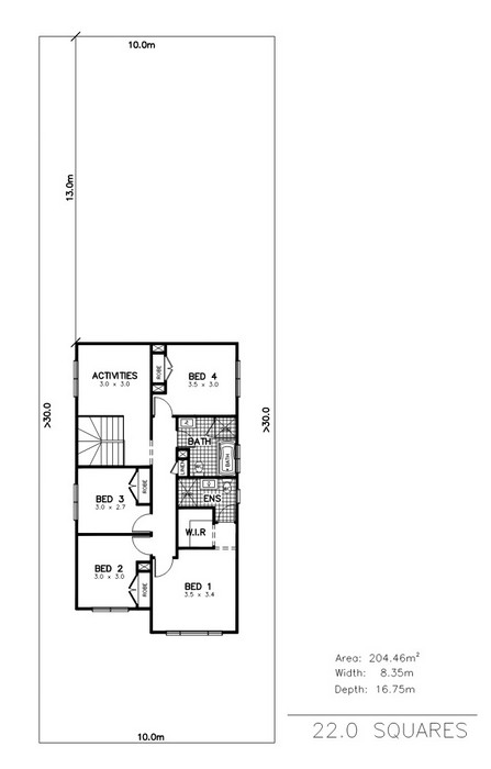 z. Marina 4 Bedroom Media Activities First Floor Plan