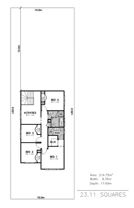 z. Marina 4 Bedroom Media Activities Study First Floor Plan