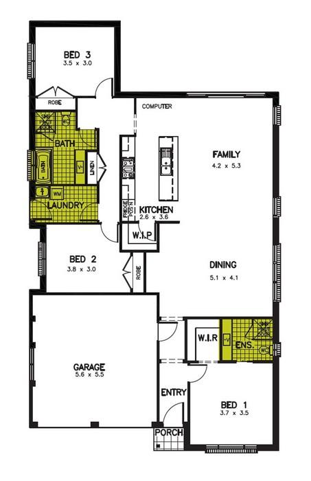 z. Sebring Floor Plan 1