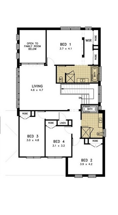 z. Waterford 4 Bedroom - Media Compact First Floor