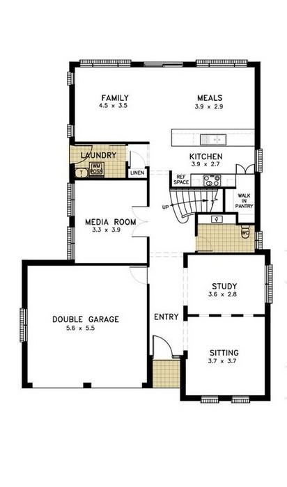 z. Waterford 4 Bedroom - Media Compact Ground Floor