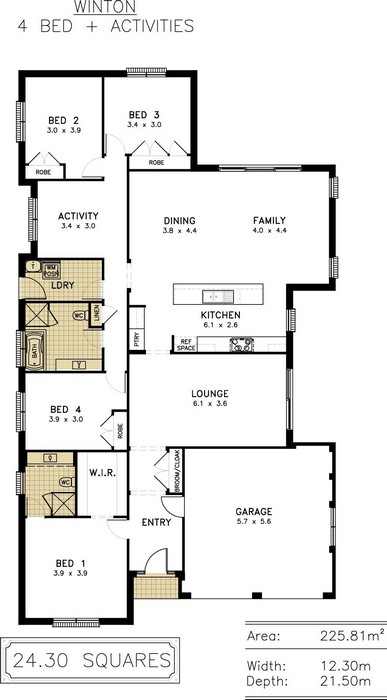 z. Winton Floor Plan 3