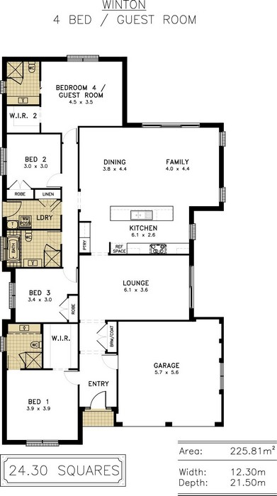 z. Winton Floor Plan 4