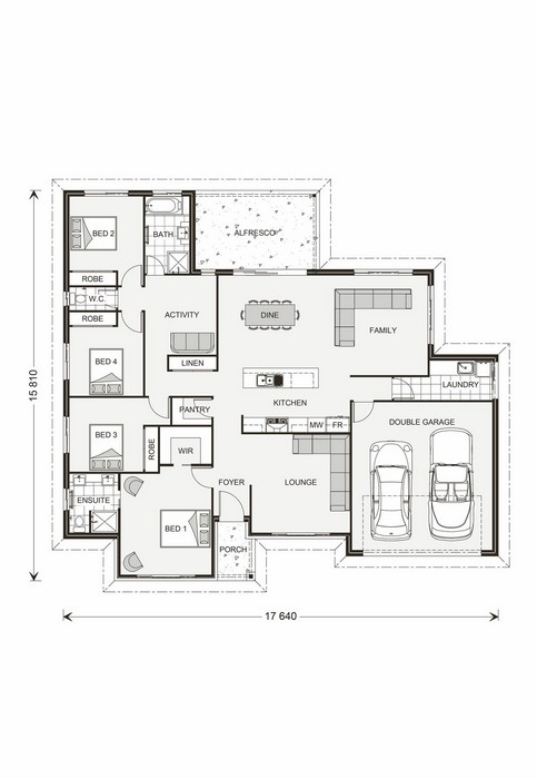 Wide bay 209 g j gardner homes house seek Wide frontage house designs