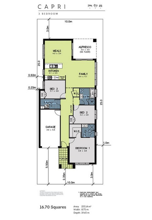 z. Capri Floor Plan 1