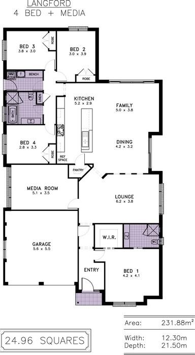 z. Langford Floor Plan 3