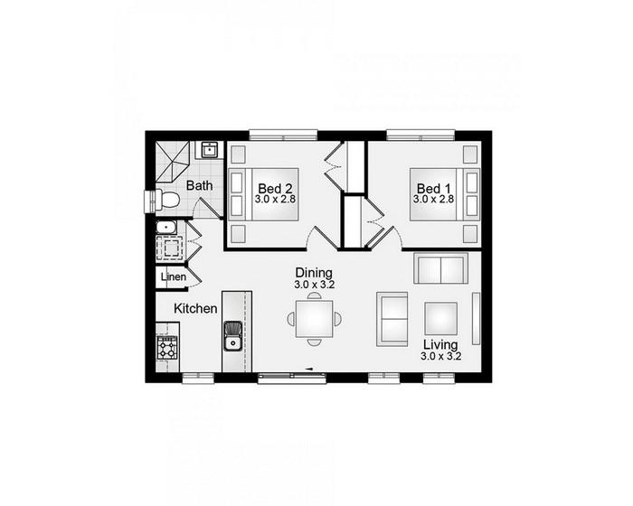 60m2 Granny Flat 2 Clarendon Homes House Seek