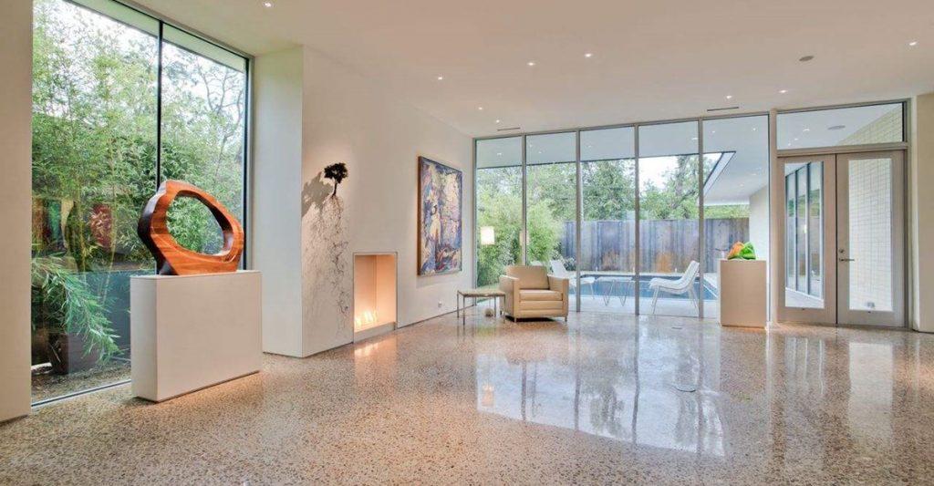 main - polished concrete floor