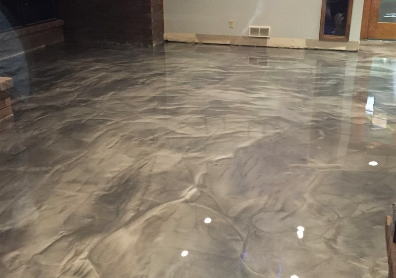 polished concrete floor - pattern